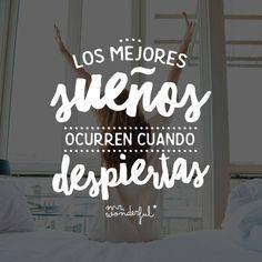 Que los sueños no se queden en eso, solo sueños. #mrwonderful #quote #motivation
