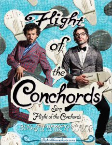 "Jemaine and Bret have new material, which they'll be showcasing on the road this summer. The ""Flight of the Conchords Sing Flight of the Conchords"" tour begins on June 11th in the great city of Cleveland, OH and ends July 27th in Los Angeles, CA. The tour will visit Philadelphia, San Francisco, Minneapolis, Seattle, Atlanta …"
