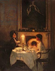 Tea ~Thomas Cantrelle Dugdale - A Caller, Candlelight and Tea
