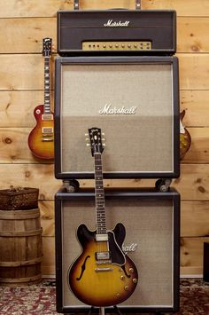 1959 ES-335 with a mint 1970 Marshall Super Lead full stack.