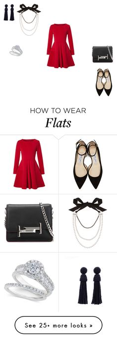 """""""Untitled #2720"""" by silentpoetgeek on Polyvore featuring WithChic, Jimmy Choo, Tod's and Lanvin"""