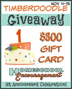 Timberdoodle $300 Gift Card Giveaway! #homeschool #kids
