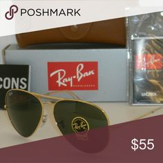 f3a79bf365e RB3025 L0205 PRICE IS FIRM! NO TRADES Classic Gold Green G-15 Lenses 58mm  Ray-Ban Accessories Sunglasses