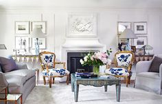 This living room positively exudes tangible glam, designed by Colette van den Thillart - Traditional Home®
