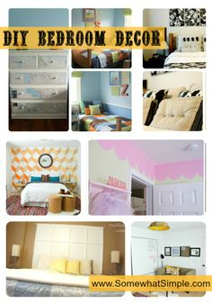 DIY Bedroom Decor Ideas from www.SomewhatSimple.com #bedrooms #DIY