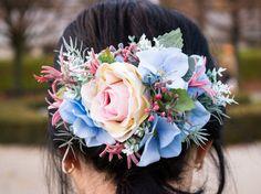 Flower headpiece, hair accessories, flower hair clip