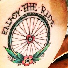 Resultado de imagen para bicycle wheel tattoo