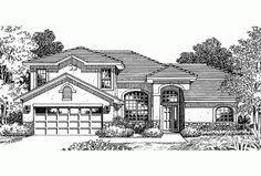 Eplans Mediterranean House Plan - Three Bedroom Mediterranean - 1887 Square Feet and 3 Bedrooms(s) from Eplans - House Plan Code HWEPL64606