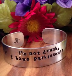 Parkinson's Awareness CuffMedical ID Alert by QuietMindDesigns, $25.00