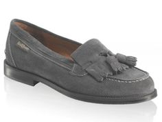 Russell and Bromley Grey Suede Loafers
