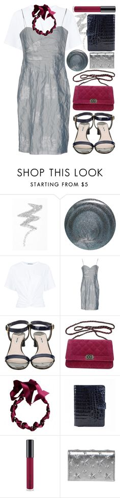 """""""party mode"""" by foundlostme ❤ liked on Polyvore featuring NYX, RGB Cosmetics, T By Alexander Wang, Armani Collezioni, Miu Miu, Chanel, Lanvin, Anne Sisteron, MAC Cosmetics and Jimmy Choo"""