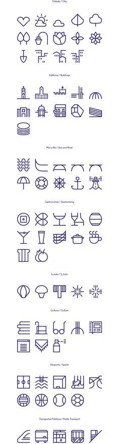 quadratisch basierte Illus in derselben Strichstärke für eine immer neue angeordnete Zusammenstellung