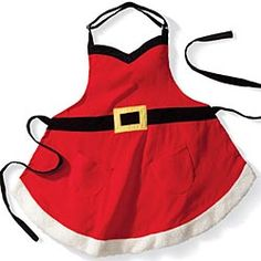 Adult Santa Apron from Artisan Table on Catalog Spree, my personal digital mall. Dress Up Aprons, Cute Aprons, Cafeteria Decor, Easy Holiday Decorations, Christmas Aprons, Sewing Aprons, Made Clothing, Christmas And New Year, Christmas Ideas