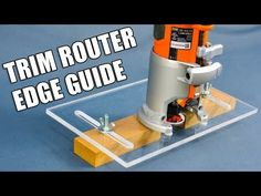 Learn Woodworking How to Make a Trim Router Edge Guide Jig (Palm Router Edge Guide) Jet Woodworking Tools, Woodworking School, Beginner Woodworking Projects, Woodworking Patterns, Popular Woodworking, Woodworking Techniques, Woodworking Videos, Woodworking Crafts, Youtube Woodworking