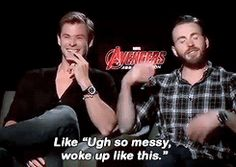 Chris Evans and Chris Hemsworth