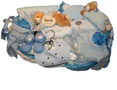 www.lacestitadelbebe.es Cesta Osito Dormilon Azul .La cesta mas completa . .de toda nuestra colección, . .no le falta ningún detalle. A la venta en nuestra tienda por 129.95€