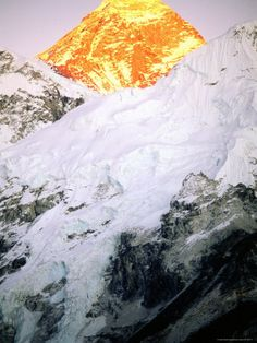 Mt Everest at Sunset photograph by Rocco Fasano