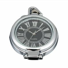 AMPM24 Women Mens Silver Black Round Pendant Pocket Quartz Watch + Chain AMPM24. $18.80