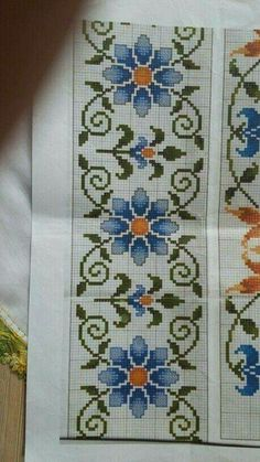 Gráfico Cross Stitch Needles, Cross Stitch Rose, Cross Stitch Borders, Cross Stitch Flowers, Cross Stitch Charts, Cross Stitching, Cross Stitch Embroidery, Embroidery Patterns, Hand Embroidery