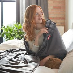 Get ready for deeper, better sleep. Our weighted blanket is designed to provide a more relaxing sleep by evenly distributing weight across your body. Learn more now.  Weighted Blanket, Reduce Stress, Stress And Anxiety, Mattress, Sleep, Ads, Design, Style, Swag