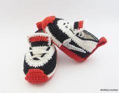 Crochet chaussons bébé espadrilles de bébé au par BUBUCrochet