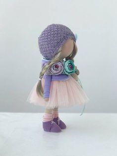 Cloth doll Stoffpuppe Poupée Tilda doll Handmade doll Fabric