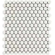 """Found it at Wayfair - Retro .75"""" x .75"""" Penny Round Porcelain Mosaic Tile in Glossy White"""