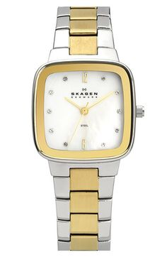 Skagen Square Bracelet Watch available at #Nordstrom
