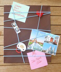 Geldgeschenk - Geld verpacken - Memoboard  http://de.dawanda.com/product/108451755-memoboard-pinnwand