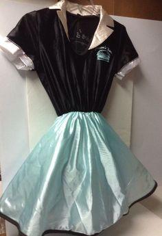 Rubie's USA Car Hop Junior's Diner 50s Costume Rockabilly Youth M 8-10 #Rubies #Dress