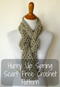 Hurry Up Spring Scarf free crochet pattern | Yarn Obsession