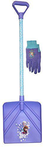 Disney Frozen Kids Winter Snow Shovel and Jersey Winter Glove Combo, 10260T, Size: Kids