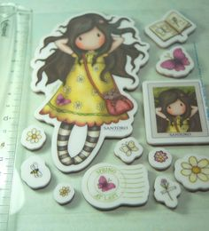 http://fankakoralik4.blogspot.com/2017/06/nowe-gorjusski.html Gorjuss by Santoro London – Collectible Rubber Stamp: 'Spring At Last'