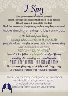 I Spy Wedding Game  Custom Designed just by BelovedDesignsbyDana, $1.50