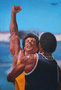 Sylvester Stallone Rocky Balboa Rocky 3 Apollo by billpruittart, $15.00
