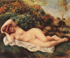 Renoir, Pierre-Auguste: Badende, schlafend (Die Bäckerin) - Gemeinfrei