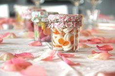 pot de confiture pour décoration bonbon