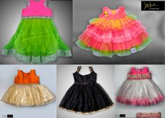Cute kids frocks and lehengas by Yaksi Deepthi Reddy. To order/contact :  Raod No.4, Banjarahills    Hyderabad Phone no : 91 93461 83949