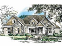 Eplans Craftsman House Plan - Generous One-Story Design with Open Common Area - 2353 Square Feet and 4 Bedrooms from Eplans - House Plan Code House Plans One Story, New House Plans, Dream House Plans, Story House, Craftsman Floor Plans, Craftsman Style, Craftsman Exterior, Style At Home, Haus Am See