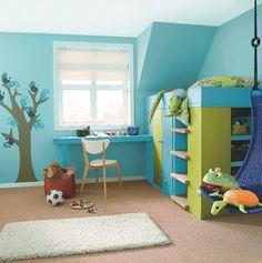 Décoration chambre enfant bleu et jaune | Kids - Deco | Pinterest ...