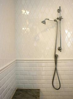 Shower Subway Tile you can mix carrara marble with subway tiles to balance the
