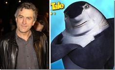 "Robert De Niro – Don Lino (""Shark Tale"") Dreamworks Movies, Cartoon Movies, Disney University, Shark Tale, Rise Of The Guardians, Kung Fu Panda, Shrek, Voice Actor, How To Train Your Dragon"