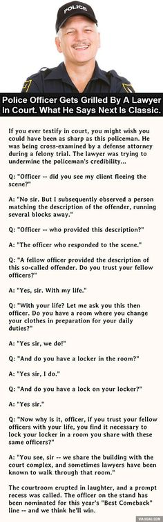 This Police Officer Nails It