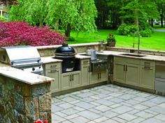 Adding an #outdoorkitchen is easier than you may think. If you'd like some advice on adding an outdoor kitchen or are interested in learning more about #KamadoJoe grills give us a call! 512-528-8112