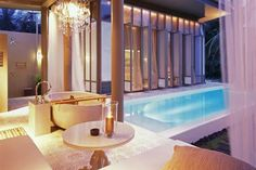Phuket resort's luxury pool villa all to yourself! The most beautiful beaches of Phuket island are now yours to enjoy! The perfect Phuket pool villa for you! Villa Phuket, Phuket Resorts, Beach Resorts, Hotels And Resorts, Phuket Travel, Thailand Travel, Resort Villa, Resort Spa, Resort Interior