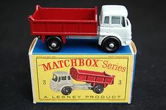 Vintage Boxed Lesney Matchbox Regular Wheels No.3 BEDFORD TIPPER TRUCK - http://www.matchbox-lesney.com/24867
