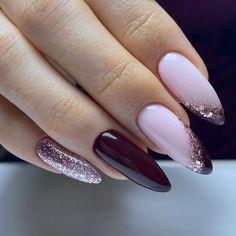 Vip Nails, Gelish Nails, Nail Manicure, Bridal Nail Art, Bridal Nails Designs, Nail Art Designs, Purple Nails, Pink Nail Art, Transparent Nails