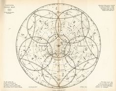 It looks like mandala style, but it's actually a northern star chart.would be a cool small back piece Constellations, Vintage Star, Celestial Map, Constellation Tattoos, Orion Tattoo, Constellation Map, Star Chart, My Sun And Stars, Nocturne