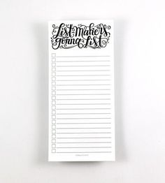 Listmakers Gonna List Notepad by How Joyful on Scoutmob Shoppe