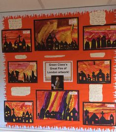 My Great Fire Of London art display - Spring 2015